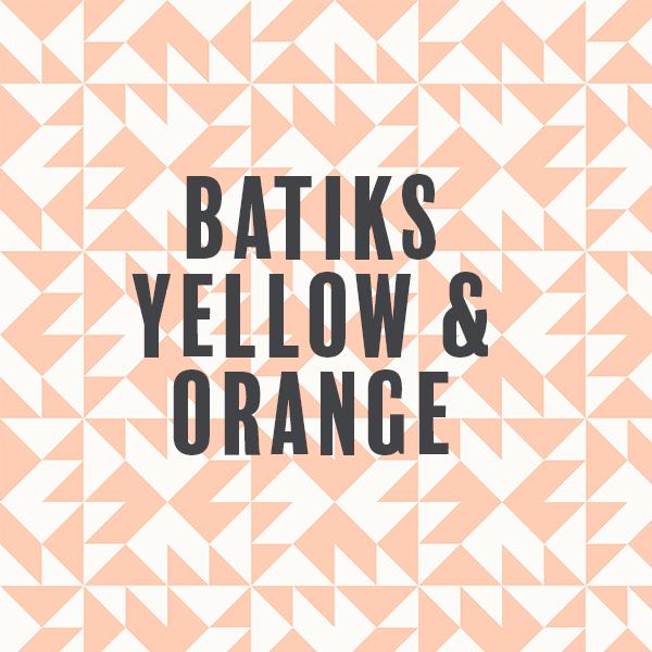 Batiks-Yellow & Orange